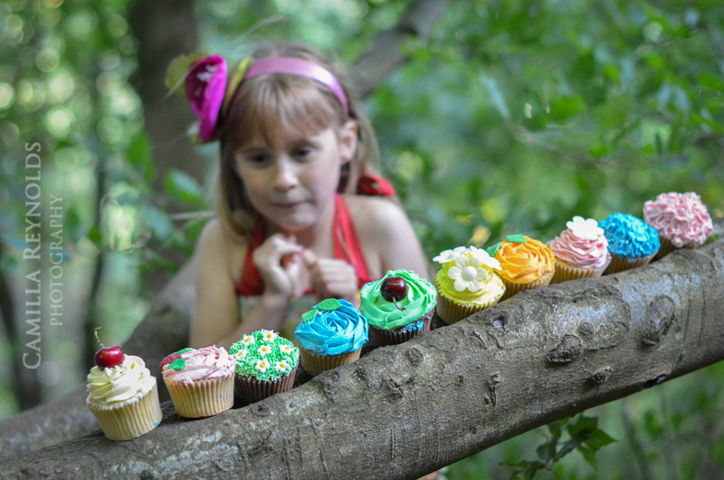 Cupcake Wood Photo Shoot Creative Kids Photography Gloucestershire