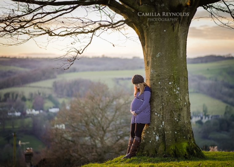 beautiful pregnancy photo shoot Gloucestershire Cotswolds