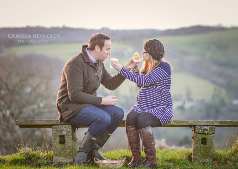 natural pregnancy photo shoot baby sex reveal Cotswolds