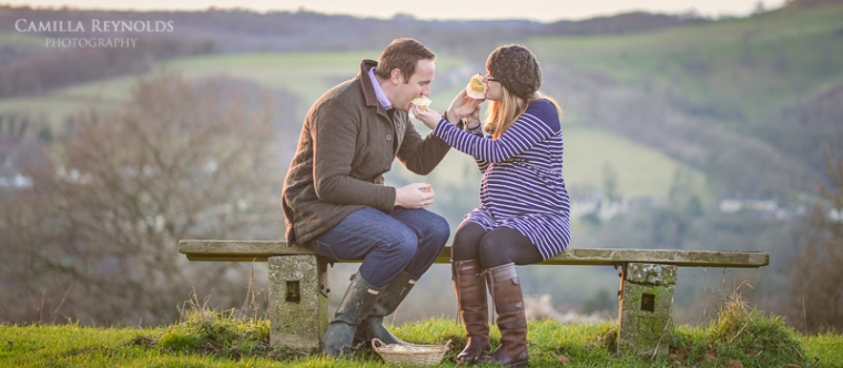 pregnancy photo shoot baby sex reveal Cotswolds