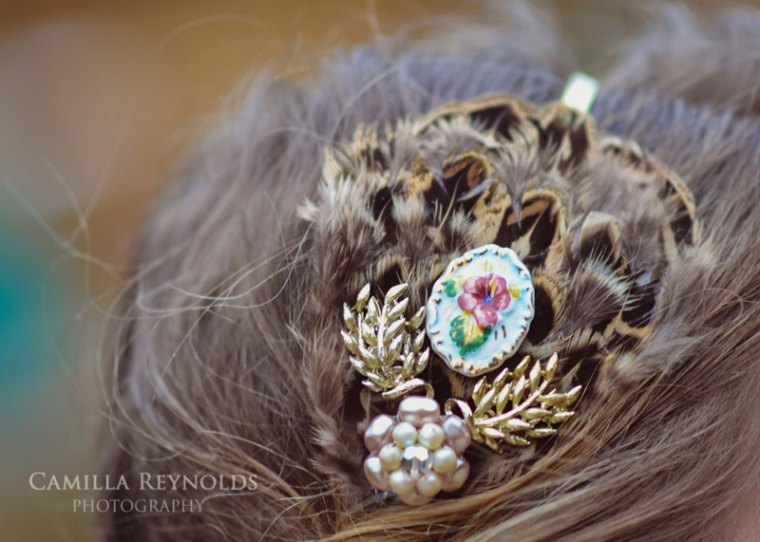 vintage wedding accessories Cotswold bride
