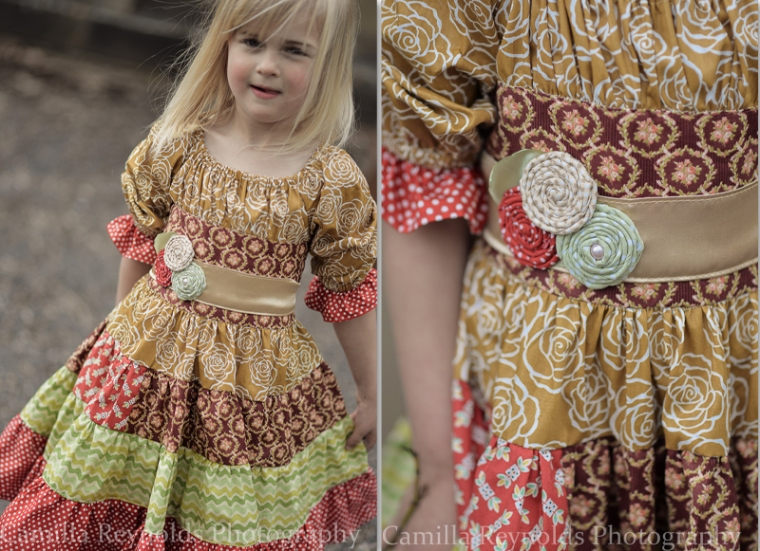 natural children photography Cotswolds handmade dress