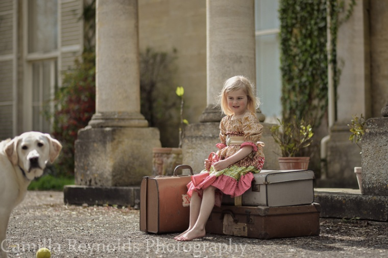girl and dog beautiful children photography Gloucestershire Stroud