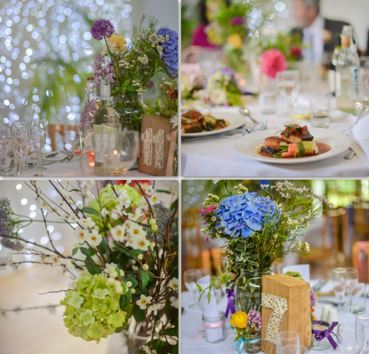 table decor Matara  Cotswold wedding