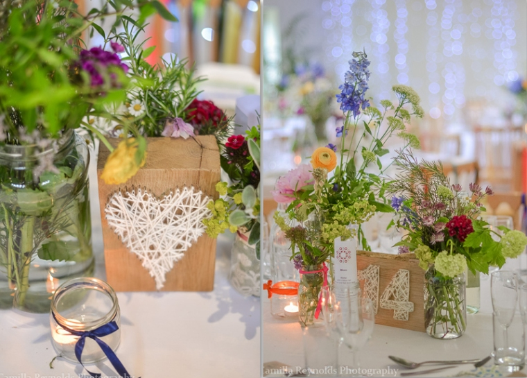 rustic table decor Matara  Cotswold wedding