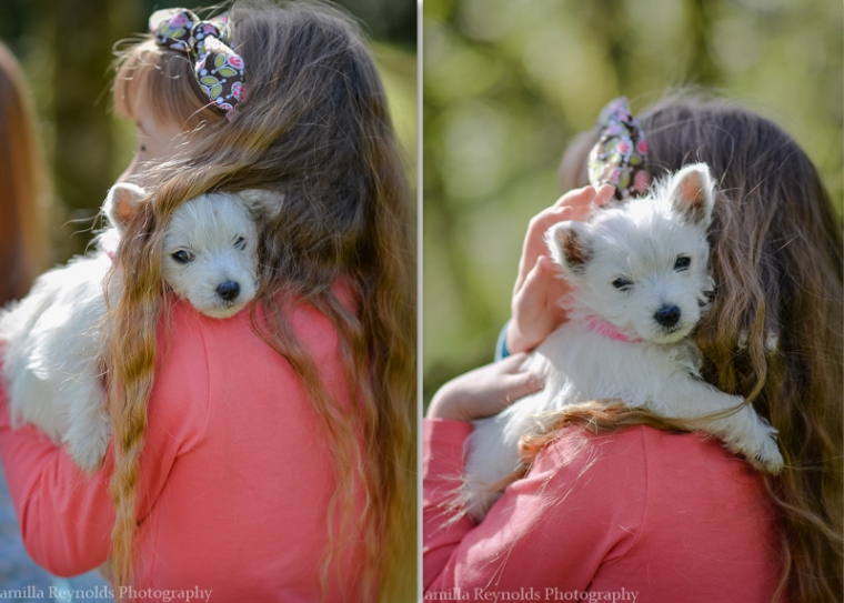 puppy children outdoor photo shoot Cotswolds Gloucsetershire