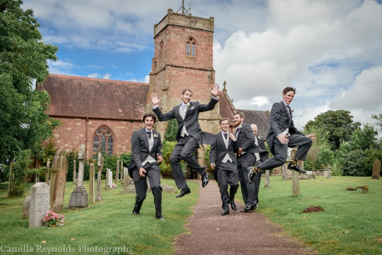 groomsmen jumping cotswold  wedding photography (5)