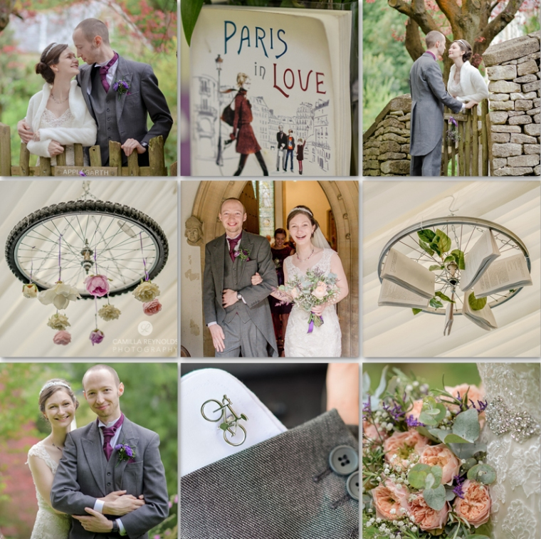 books and bicycles wedding photography cotswolds weddings