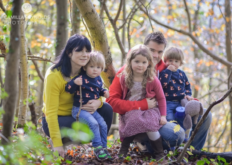 outdoor photo shoot in the woods Cotswold family photography