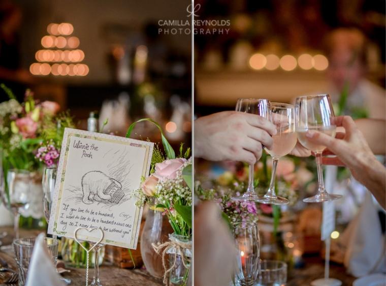 wedding table settings rustic vintage Cotswold weddings Winnie the pooh theme