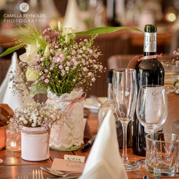 wedding table settings rustic vintage Cotswold weddings greenman