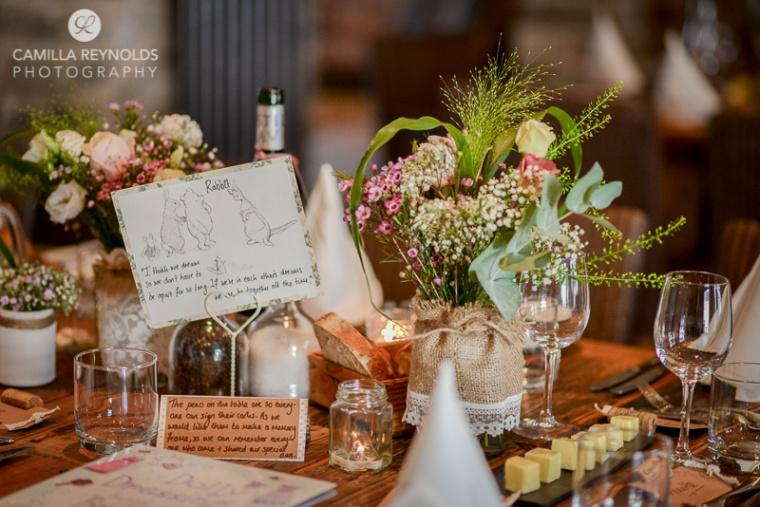 wedding table settings rustic vintage Cotswold weddings winnie the pooh