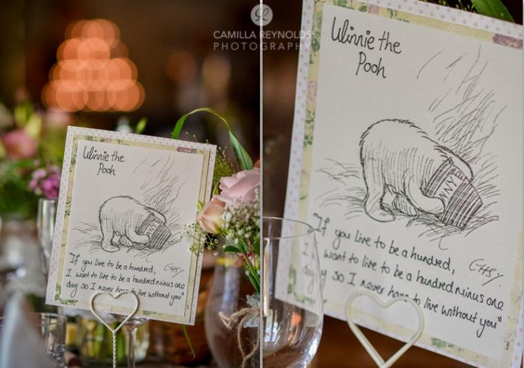 winnie the poor wedding themes wedding table settings rustic vintage Cotswold weddings