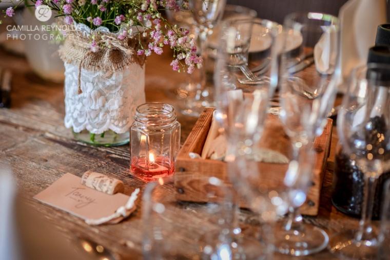 wedding table settings rustic vintage Cotswold weddings