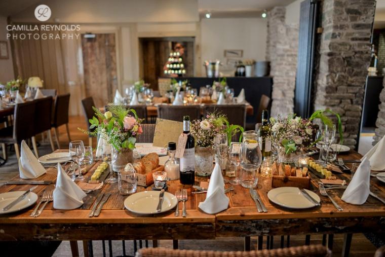 wedding table settings rustic vintage greenman pub wedding