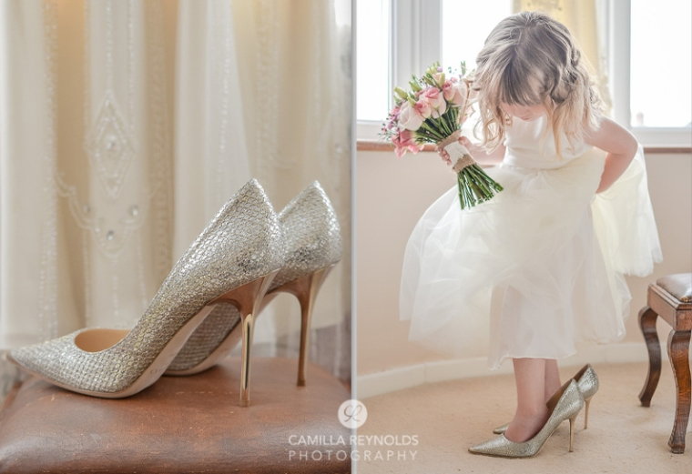 Cotswold wedding photography herefordshire greenman jimmy choo shoes