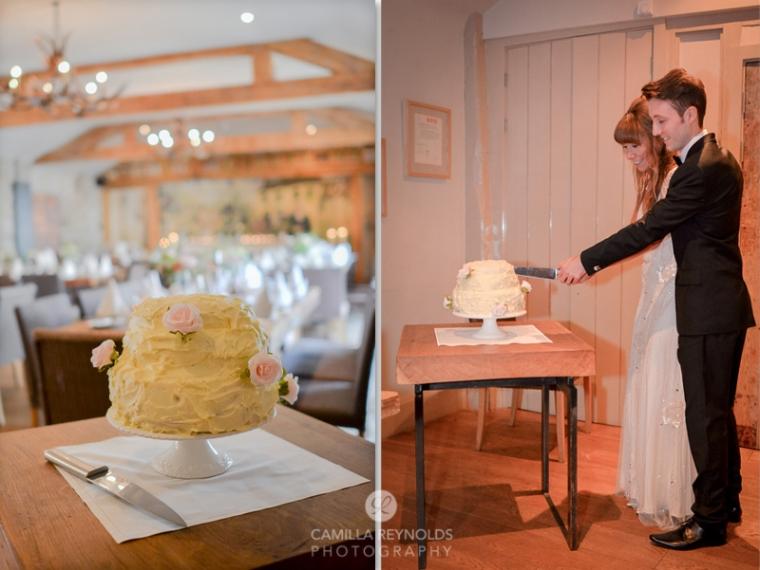 cake cutting reportage documentary wedding photography Herefordshire