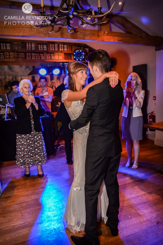 natural wedding photography Herefordshire first dance