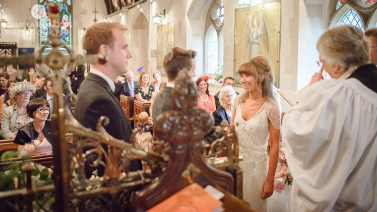 natural wedding photography herefordshire church
