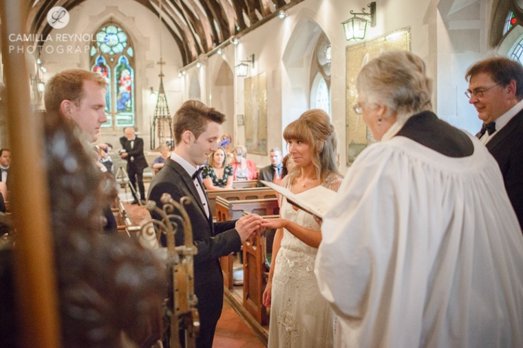 natural wedding photography herefordshire church ceremony