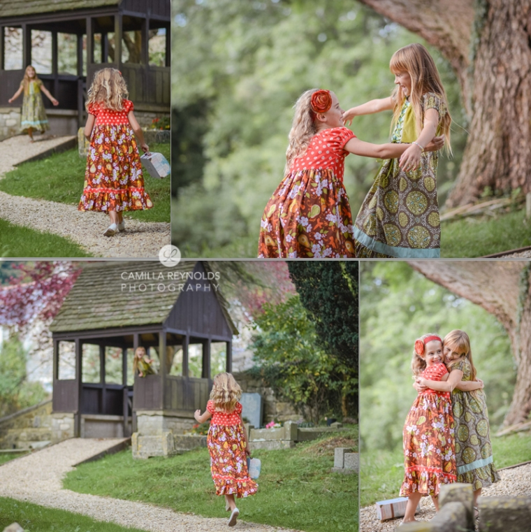 creative children photo shoot Cotswolds girls and cupcakes
