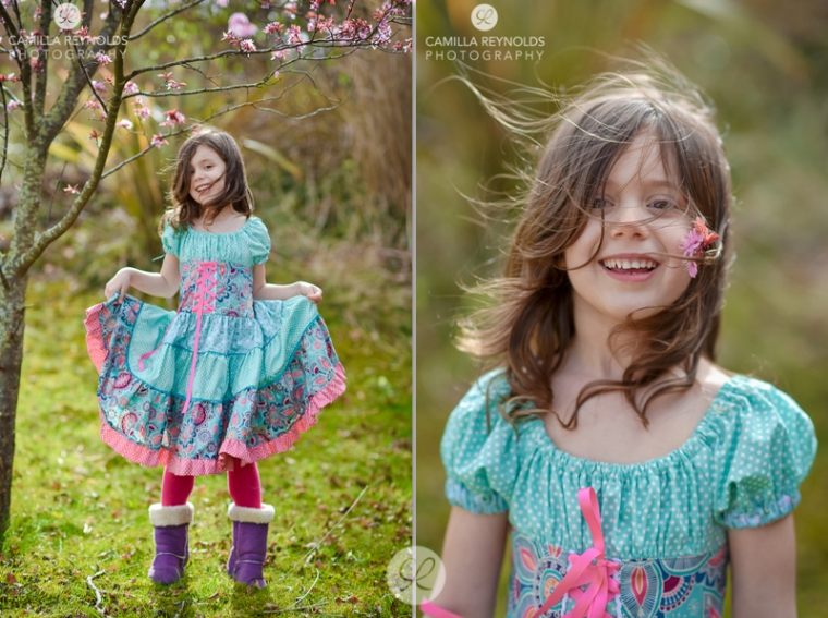 outdoor children photo shoot Gloucestershire Cotswolds girl in a dress