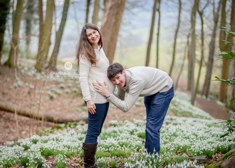 natural pregnancy photo shoot Cotswolds
