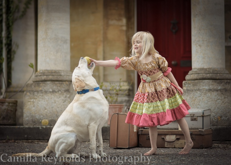 children dog photo shoot