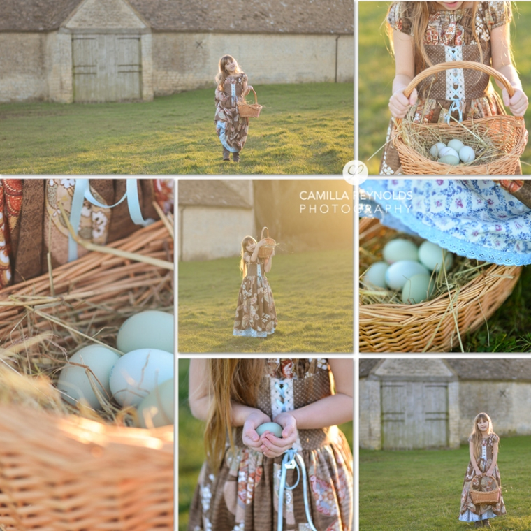 creative children photo shoot Gloucestershire Cotswolds easter