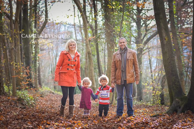 outdoor family photo shoot