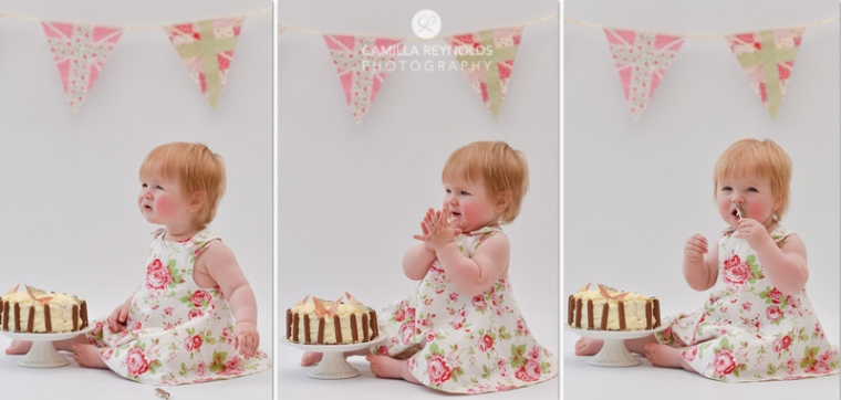 baby children photographer Gloucestershire cake smash