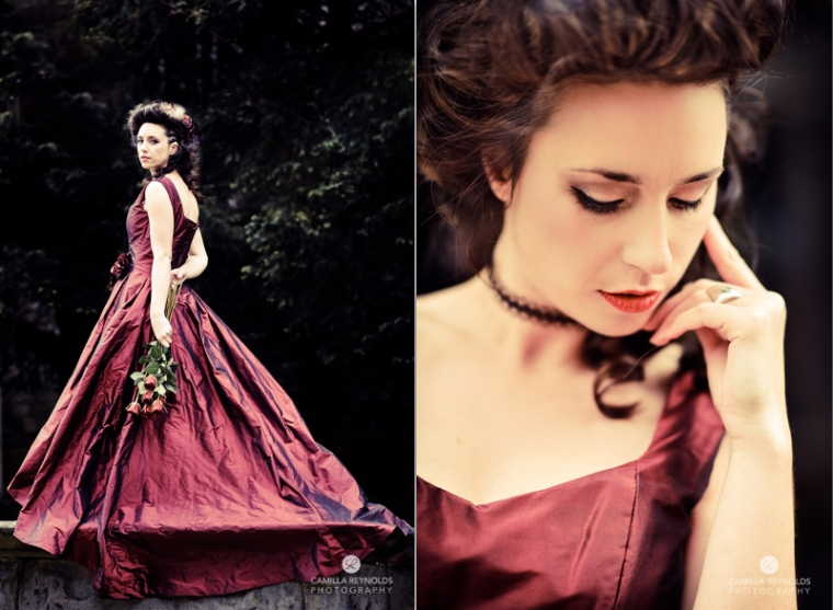 red wedding dress alternative wedding photography bridal dresses accessories Cotswolds