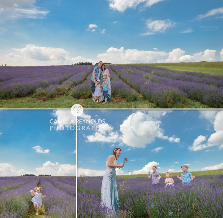 natural children photo shoot Cotswolds lavender