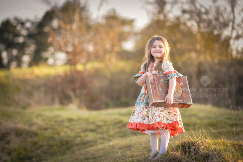 creative children photography girl book Cotswolds