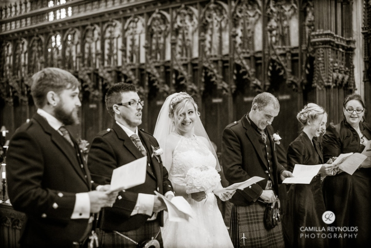 documentaryl wedding photography Gloucester Cathedral