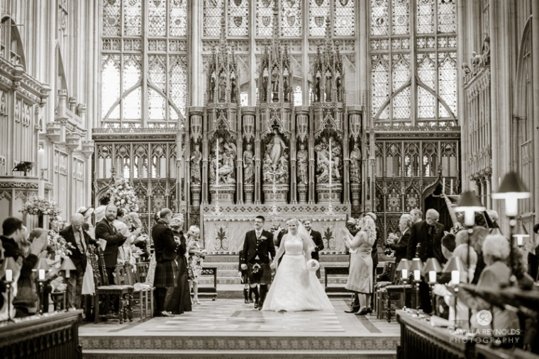 natural wedding photography Gloucester Cathedral