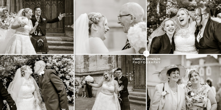 happy natural wedding photography Cotswolds