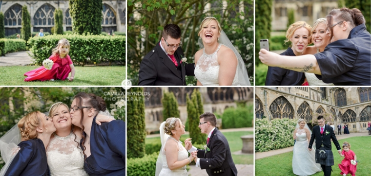 happy wedding photography Gloucestershire