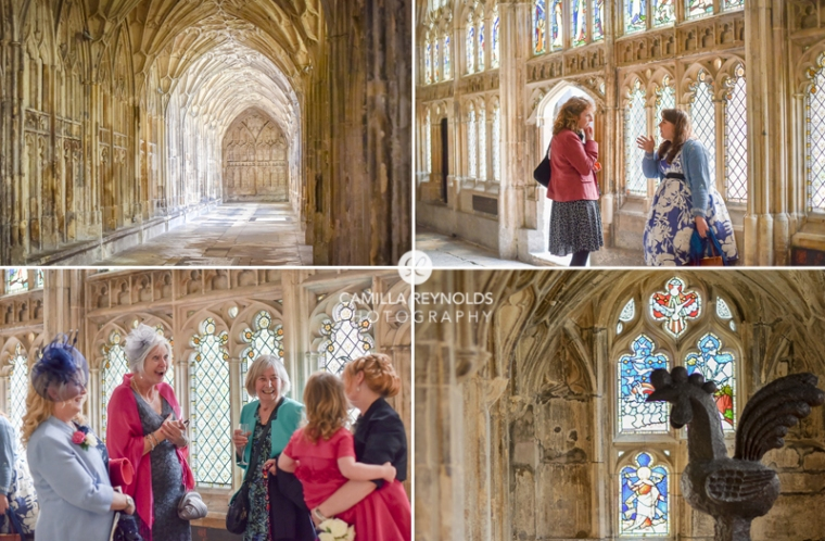 Gloucester cathedral cloisters Harry potter wedding photography
