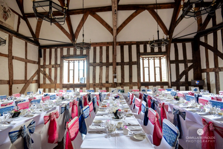 best wedding venues Gloucester cathedral table settings