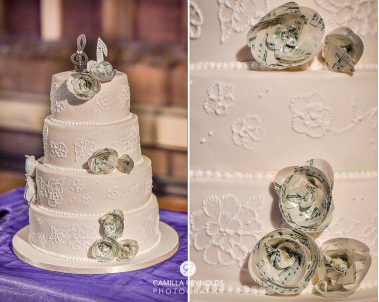wedding cake music sheet theme Cotswold photographers