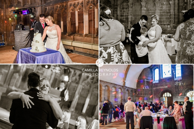 happy natural wedding photography Cotswolds Gloucester Cathedral