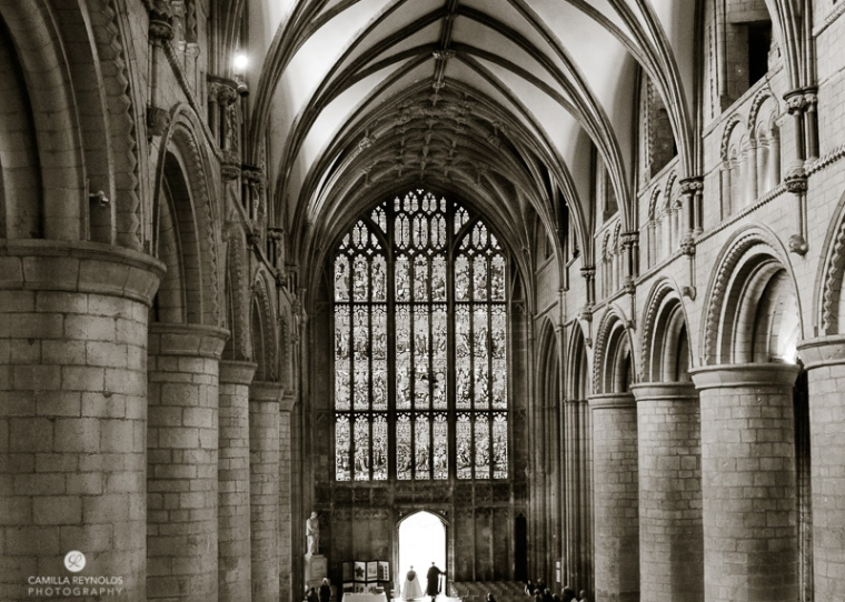 gloucester cathedral wedding photography ceiling