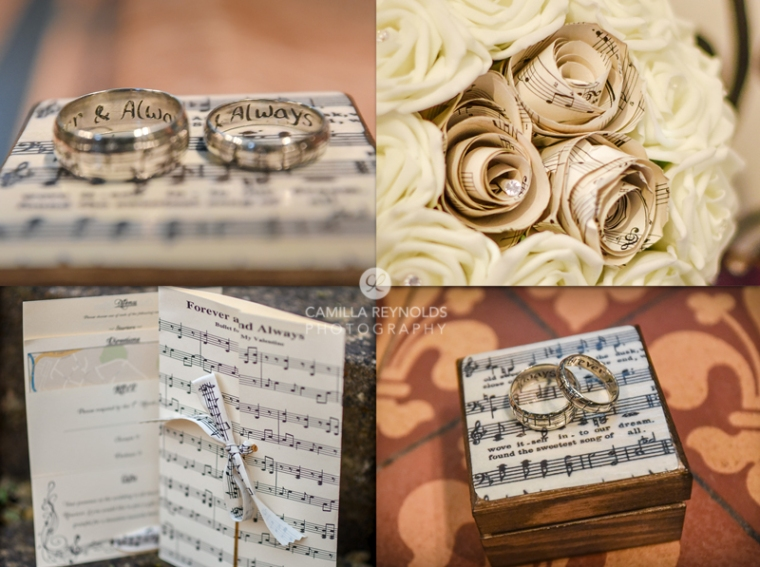 Gloucester cathedral wedding photography music sheet theme