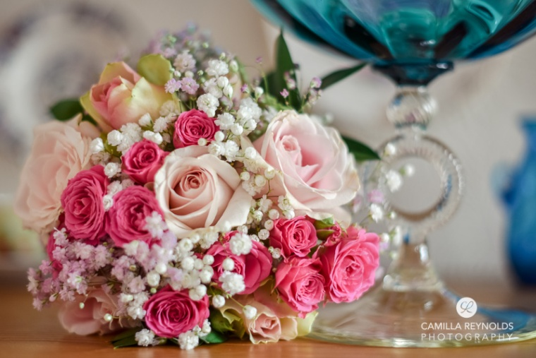 bridal bouquet pink Cotwold wedding