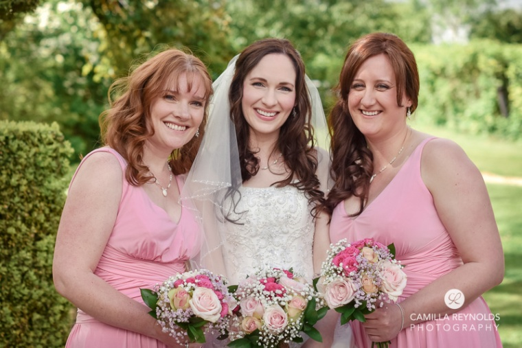 bride bridesmaids Cripps barn  Cotwold wedding