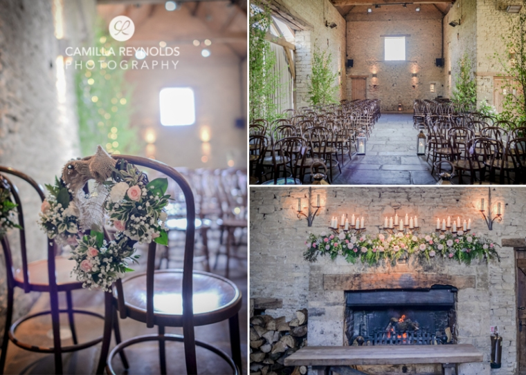 ceremony wedding flowers Cripps barn  Cotwold weddings
