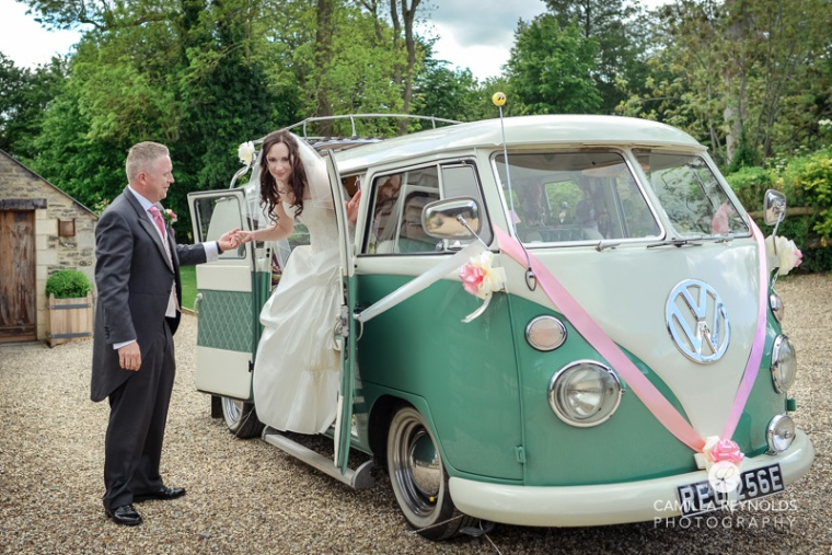 Cripps barn  Cotwold  wedding photography wv camper van