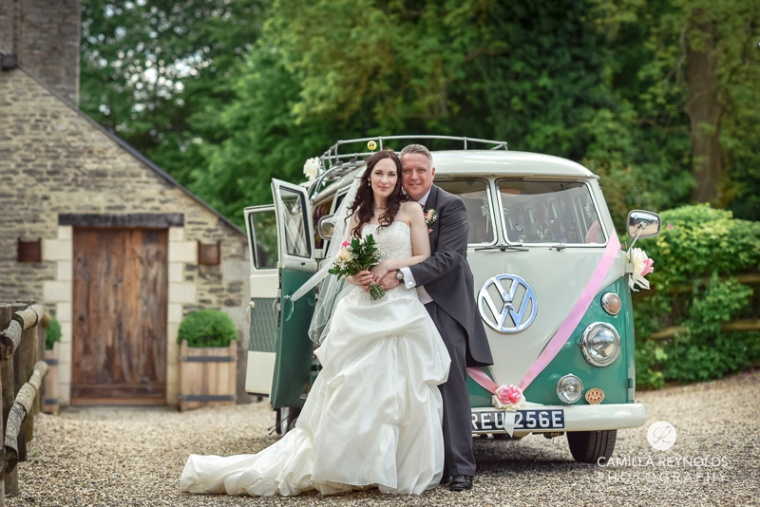 wedding transport Cripps barn  Cotwold natural wedding photography