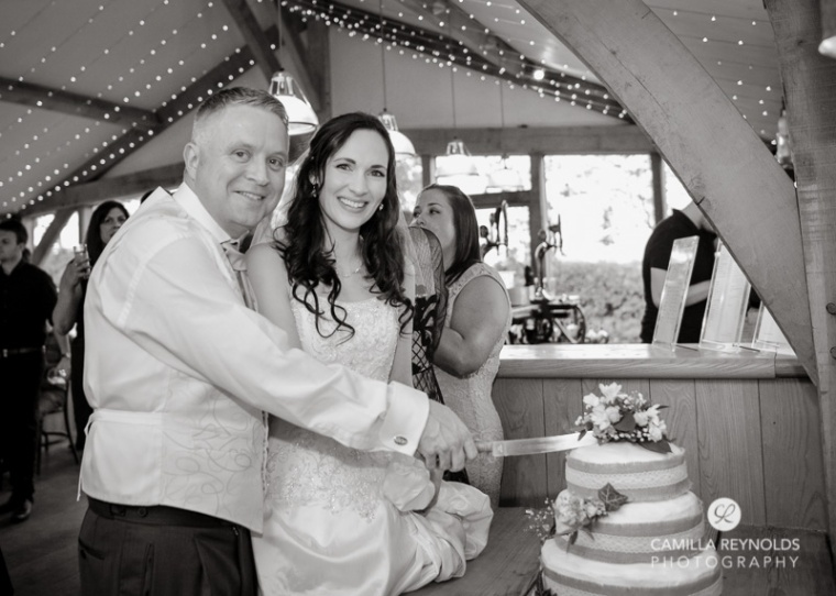 cake cutting Cripps barn  wedding